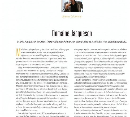 Article vigneron Jacqueson